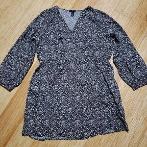 GAP long sleeved floral dress - XL